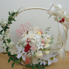白無垢の花嫁さん♪白いお花とスイーツのちょっと和風のアレンジの画像