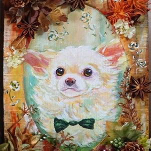 犬の似顔絵diary④の画像