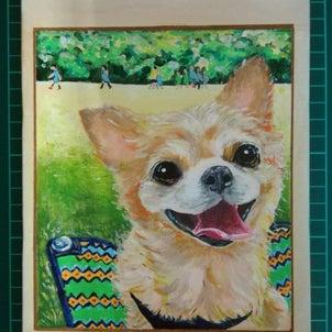 犬の似顔絵diary③の画像