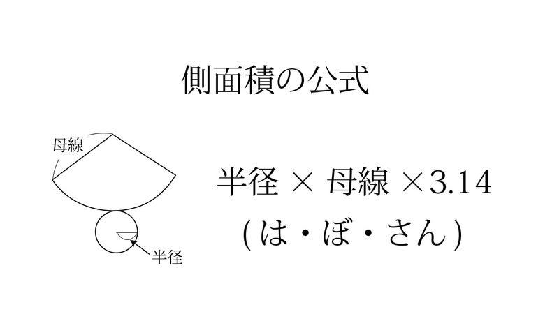 円錐 の 側 面積 公式