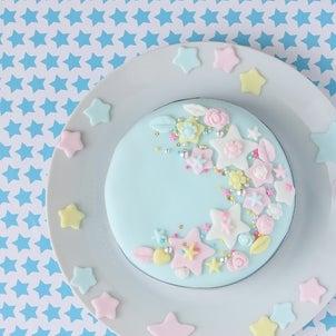 七夕のシュガーアートケーキの画像