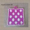【風水アイテム♪】水玉ポットマット(梅紫)の画像