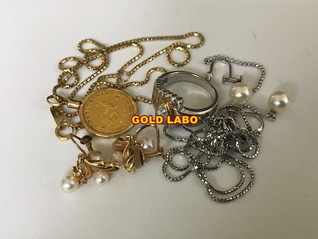 金 K22 コイン、K18 ネックレス、プラチナ リング、ネックレス買取 札幌
