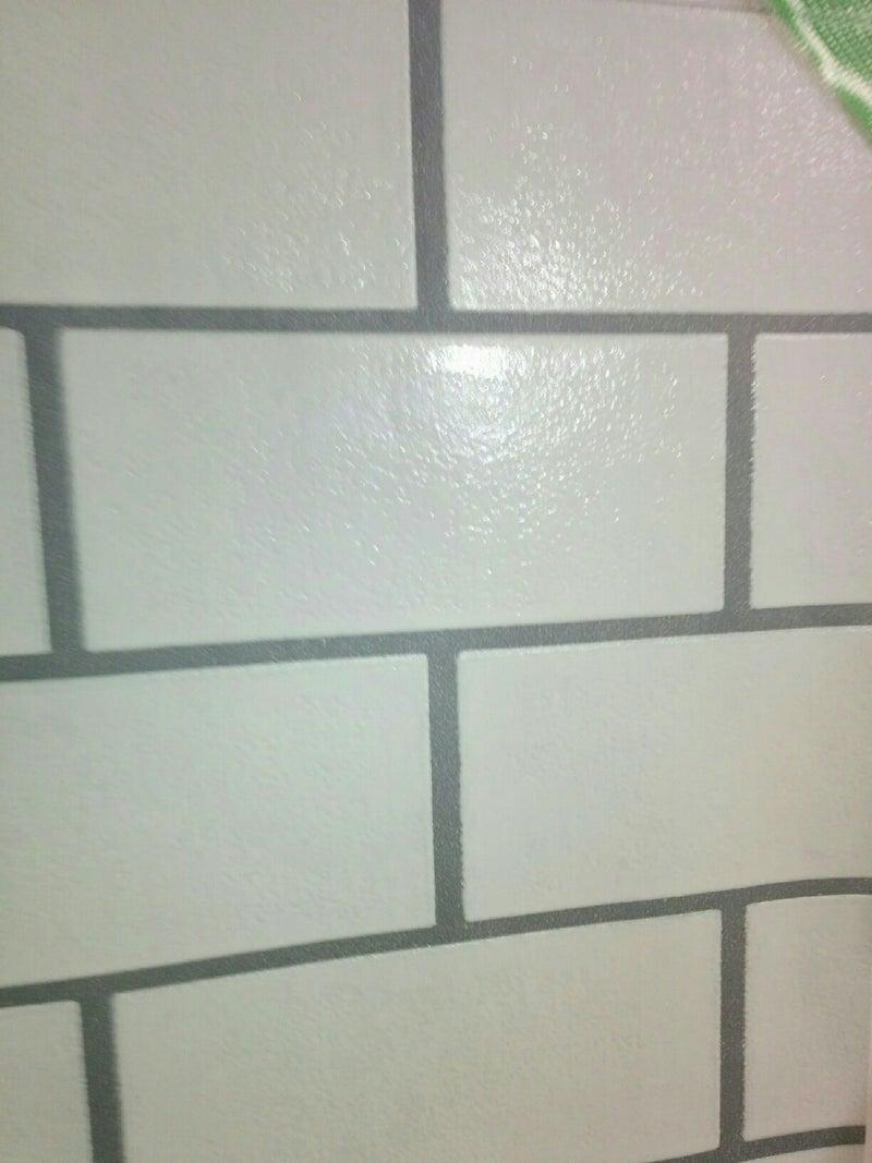 キッチン改造diy リアルなタイル調の壁紙を貼る 未完成house 好き勝手にdiy
