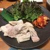 大阪北堀江のお好みたまちゃんvivaで蒸し豚にジューシープルコギにたまちゃんデラックス焼きの画像