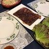 今日のお夕飯はハラミ焼肉の画像