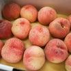 桃を食べて大満足♪