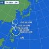 台風5号の画像