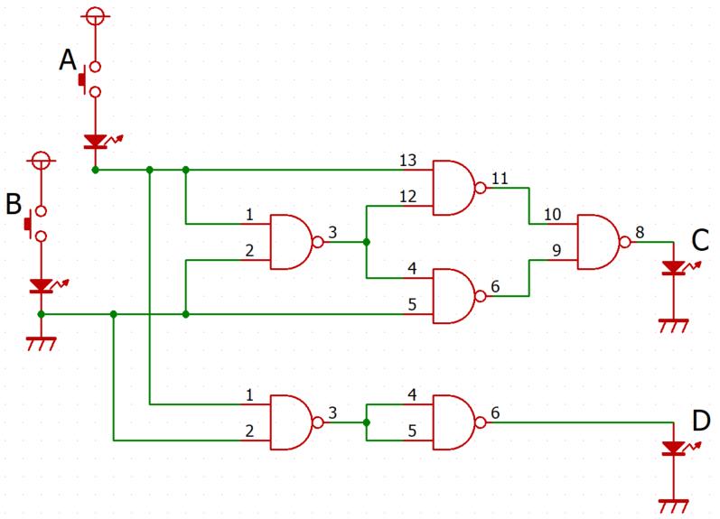ディジタルゲートICの実験(その6)全加算回路   中峯浩の ...