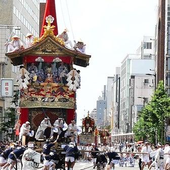 祇園祭前祭り 長刀鉾の辻回し