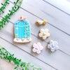 (レポ) お花がいっぱいの鳥かごクッキー♡の画像