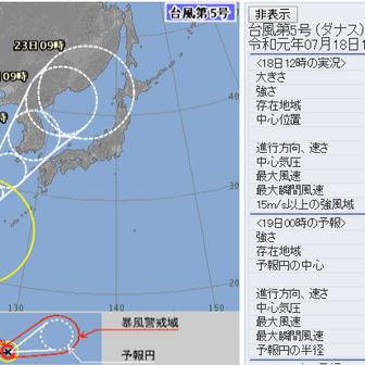台風5号@石垣島☆