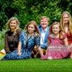 オランダ国王一家 夏の写真撮影会