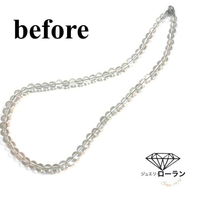 水晶念珠つくりbefore