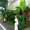 久しぶりに韓国喫茶「李青」今出川へ!白地に墨流し夏単衣に墨紫暈大唐草の帯締めて