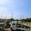 水道管修理と夏の空の画像