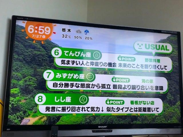 めざまし テレビ 占い 今日
