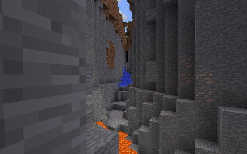 渓谷溶岩流の滝