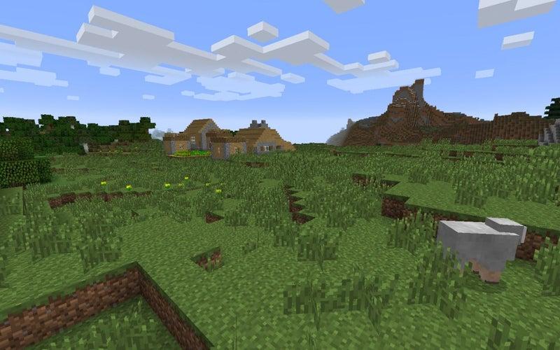 渓谷のMinecraftシードの端にある村