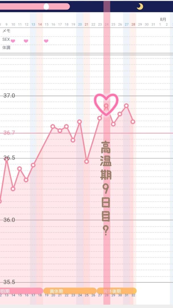 9 妊娠 した 時 日 高温 目 期