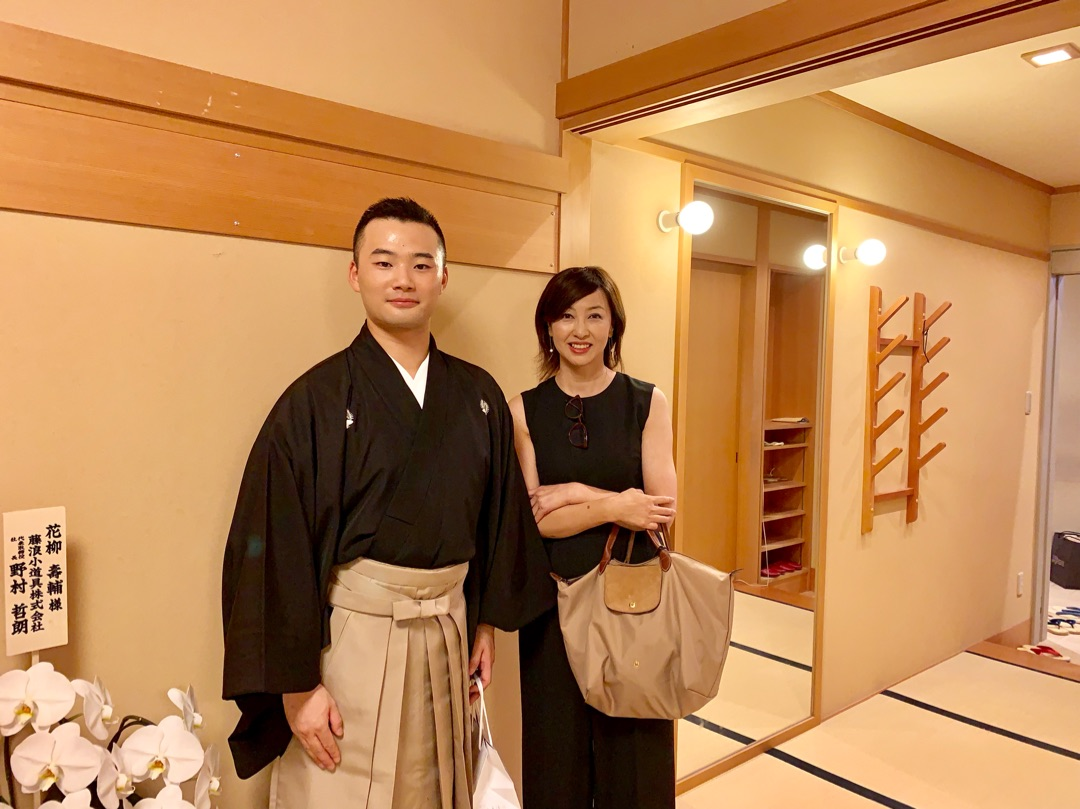 歌舞伎座で、日本舞踊 花柳流 追...