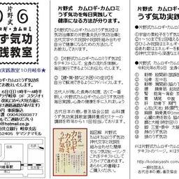 画像 うず気功実践教室    岐阜10月6日 の記事より 1つ目