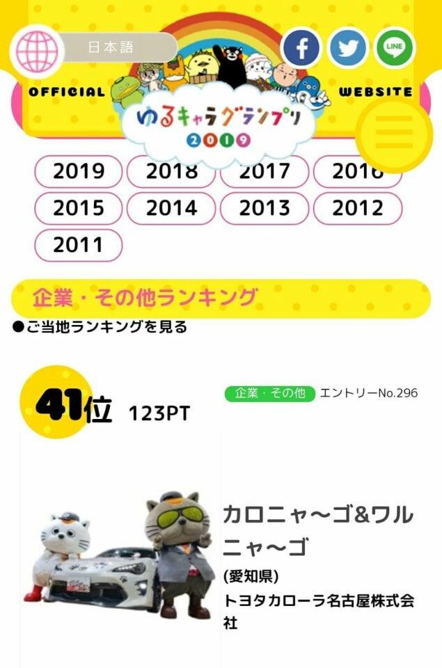 ゆる キャラ グランプリ 2019 投票