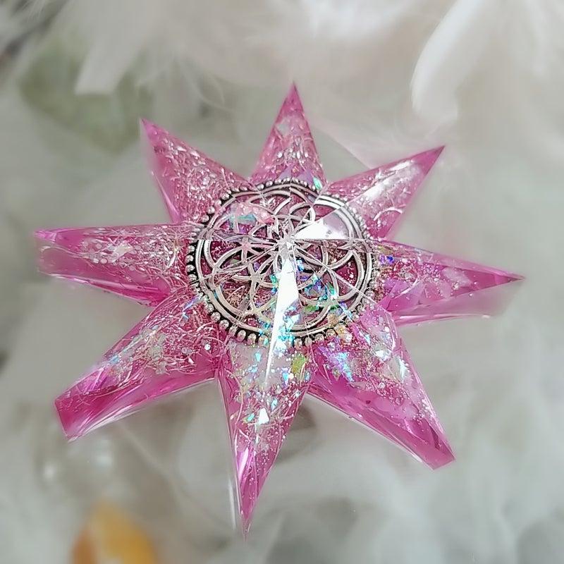 あなたの星を作ります☆八芒星オルゴナイト