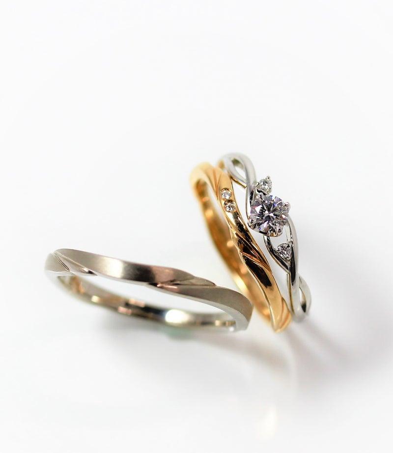 婚約指輪 奏-かなで- 結婚指輪 共鳴-きょうめい-