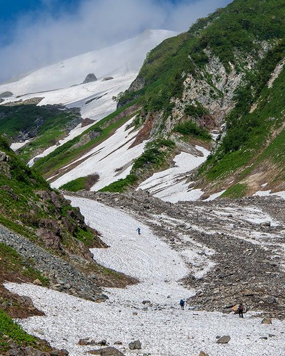 大 雪渓 白馬