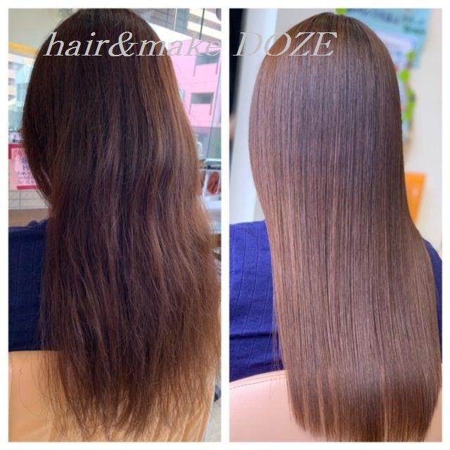 毛髪内部が潤いで満たされることで失われてしまった髪の美しさを取り戻す!!!