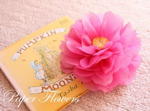 前田京子のペーパーフラワー、ペーパーアートの不織布のお花