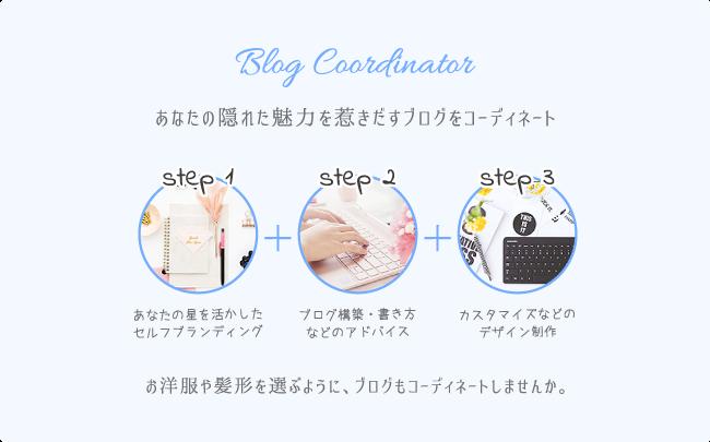 ブログコーディネートの3ステップ