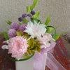 プリザーブドフラワーで仏花、作りました。の画像
