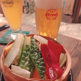 どうしても沖縄料理がたべたくて…。
