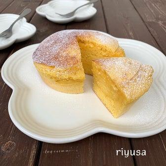 【簡単おやつ】材料4つでカステラ風しっとりケーキ