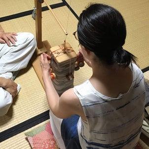今日の組紐体験は北海道から♪の画像