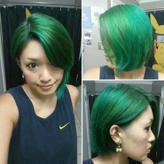 アメリカで市販の髪染め #4(緑系)