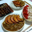 南瓜の素揚げのせチキンカレー❤鶏肉尽くしな夜ご飯の理由(≧∇≦)
