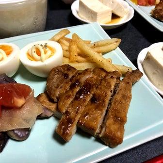 ★1枚50円のお肉で節約トンテキ晩酌〜★