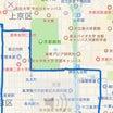 京都は直進で動く。