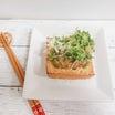 生姜なめ茸ソースで絹厚揚げ焼き