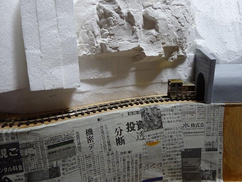 石膏岩貼り付け