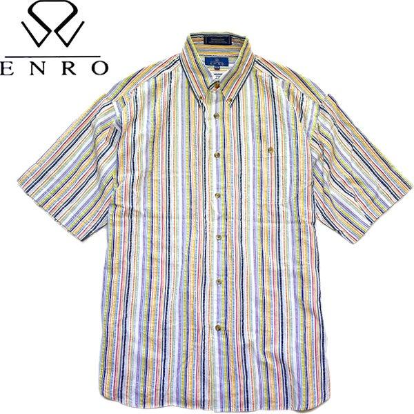 柄物ストライプシャツ画像@古着屋カチカチ