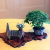 ヴィンテージ雑貨と盆栽の画像