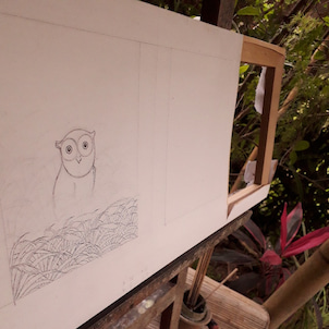 バリ人がバリ絵画を静かに描きはじめるまでにの画像