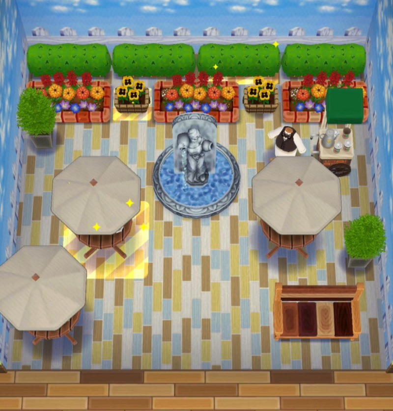 ポケ 森 カフェ な パラソル テーブル