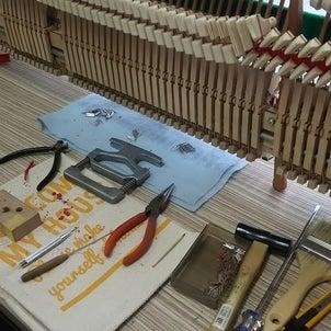 ピアノ アクション修理の画像
