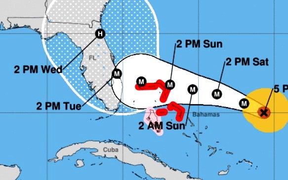 カテゴリー4のハリケーンドリアン、フロリダには上陸せずに北上 ...