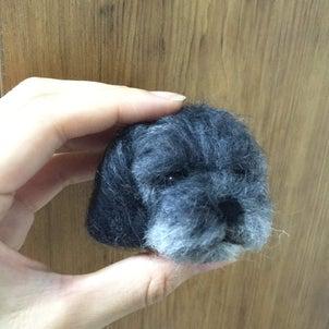 羊毛フェルトでルイを作成中の画像